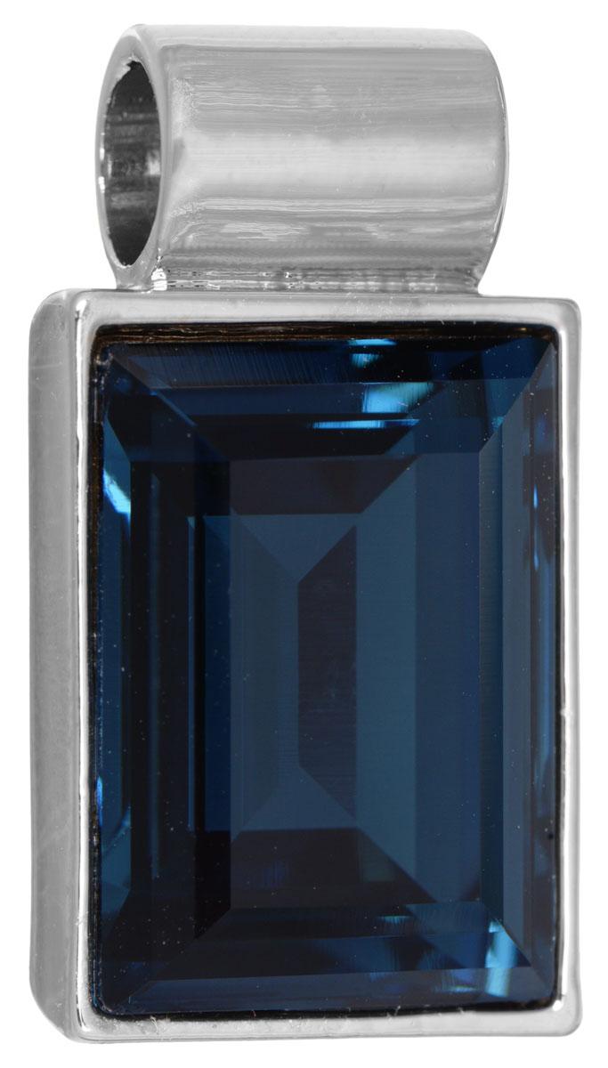 Подвеска Jenavi Пенита, цвет: серебряный, синий. k264f344k264f344Подвеска Jenavi Пенита выполнена из гипоаллергенного ювелирного сплава, оформлена покрытием из серебра и родия. Подвеска прямоугольной формы дополнена граненым кристаллом Swarovski. Изделие имеет отверстие, которое позволит использовать цепочку любого диаметра. Подвеска Jenavi Пенита поможет дополнить любой образ и привнести в него завершающий яркий штрих.