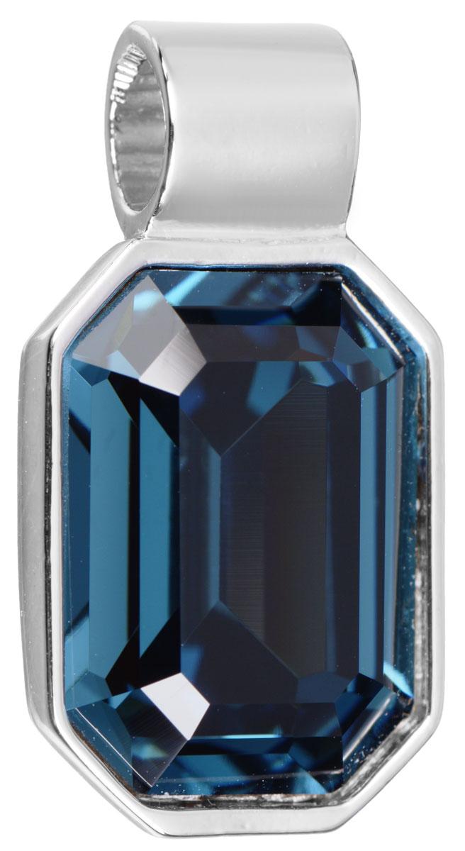 Подвеска Jenavi Кайлиса, цвет: серебряный, синий. k270f344k270f344Подвеска Jenavi Кайлиса выполнена из гипоаллергенного ювелирного сплава, оформлена покрытием из серебра и родия. Подвеска в форме восьмиугольника дополнена граненым кристаллом Swarovski. Изделие имеет отверстие, которое позволит использовать цепочку любого диаметра. Подвеска Jenavi Кайлиса поможет дополнить любой образ и привнести в него завершающий яркий штрих.