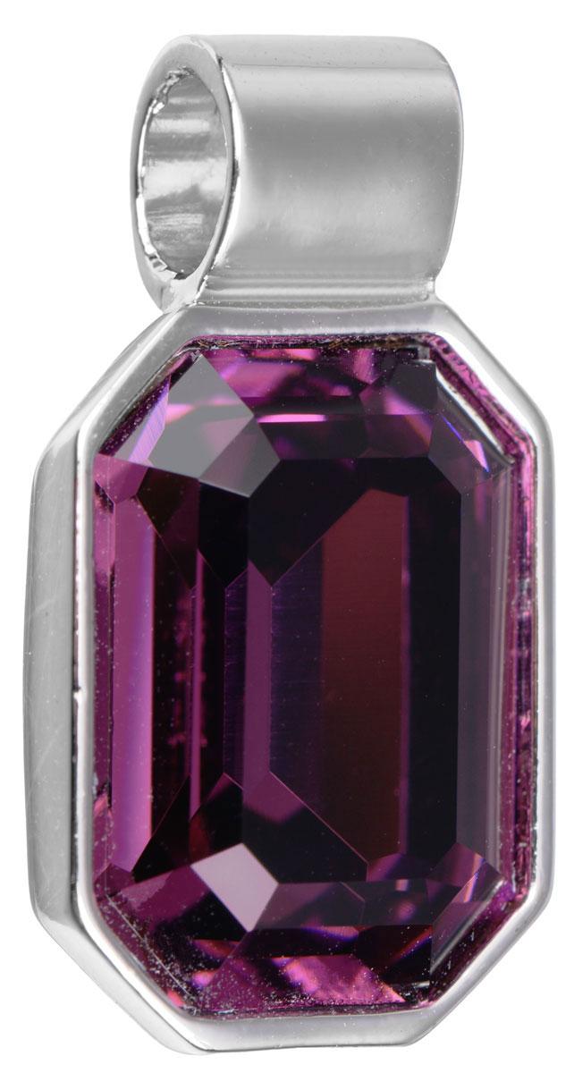 Подвеска Jenavi Кайлиса, цвет: серебряный, фиолетовый. k270f350k270f350Подвеска Jenavi Кайлиса выполнена из гипоаллергенного ювелирного сплава, оформлена покрытием из серебра и родия. Подвеска в форме восьмиугольника дополнена граненым кристаллом Swarovski. Изделие имеет отверстие, которое позволит использовать цепочку любого диаметра. Подвеска Jenavi Кайлиса поможет дополнить любой образ и привнести в него завершающий яркий штрих.