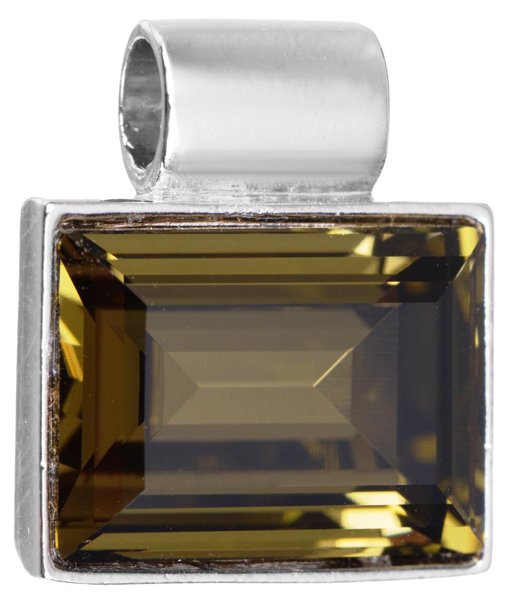 Подвеска Jenavi Тянада, цвет: серебряный, коричневый. k296f325k296f325Подвеска Jenavi Тянада выполнена из гипоаллергенного ювелирного сплава, оформлена покрытием из серебра и родия. Подвеска прямоугольной формы дополнена граненым кристаллом Swarovski. Изделие имеет отверстие, которое позволит использовать цепочку любого диаметра. Подвеска Jenavi Тянада поможет дополнить любой образ и привнести в него завершающий яркий штрих.