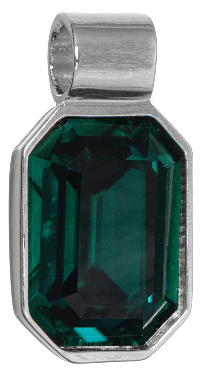 Подвеска Jenavi Кайлиса, цвет: серебряный, зеленый. k270f330k270f330Подвеска Jenavi Кайлиса выполнена из гипоаллергенного ювелирного сплава, оформлена покрытием из серебра и родия. Подвеска в форме восьмиугольника дополнена граненым кристаллом Swarovski. Изделие имеет отверстие, которое позволит использовать цепочку любого диаметра. Подвеска Jenavi Кайлиса поможет дополнить любой образ и привнести в него завершающий яркий штрих.