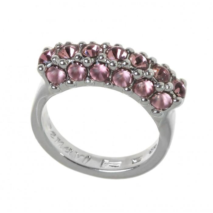 Кольцо Jenavi Буисон, цвет: серебристый, розовый. Размер 18j716f010Элегантное кольцо Jenavi Буисон выполнено из ювелирного сплава с антиаллергическим гальваническим покрытием серебрением с родированием. Декоративный элемент оформлен розовыми кристаллами Swarovski. Стильное кольцо придаст вашему образу изюминку и подчеркнет индивидуальность.