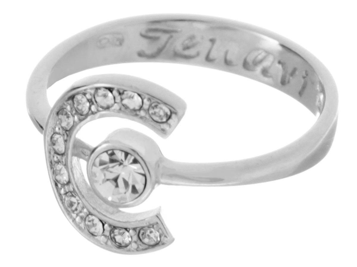 Кольцо Jenavi Эстелио, цвет: серебряный, белый. f497f000. Размер 17f497f000Коллекция Saturnio, Эстелио (Кольцо) гипоаллергенный ювелирный сплав,Серебрение c род. , вставка Кристаллы Swarovski , цвет - серебряный, белый, размер - 17