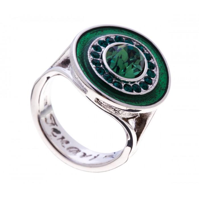 Кольцо Jenavi Color 17, цвет: серебряный, изумрудный. f366f070. Размер 16f366f070Стильное кольцо Jenavi Color 17 выполнено из гипоаллергенного ювелирного сплава с покрытием родием и серебрением и оформлено кристаллами Swarovski. Стильное кольцо придаст вашему образу изюминку, подчеркнет индивидуальность.