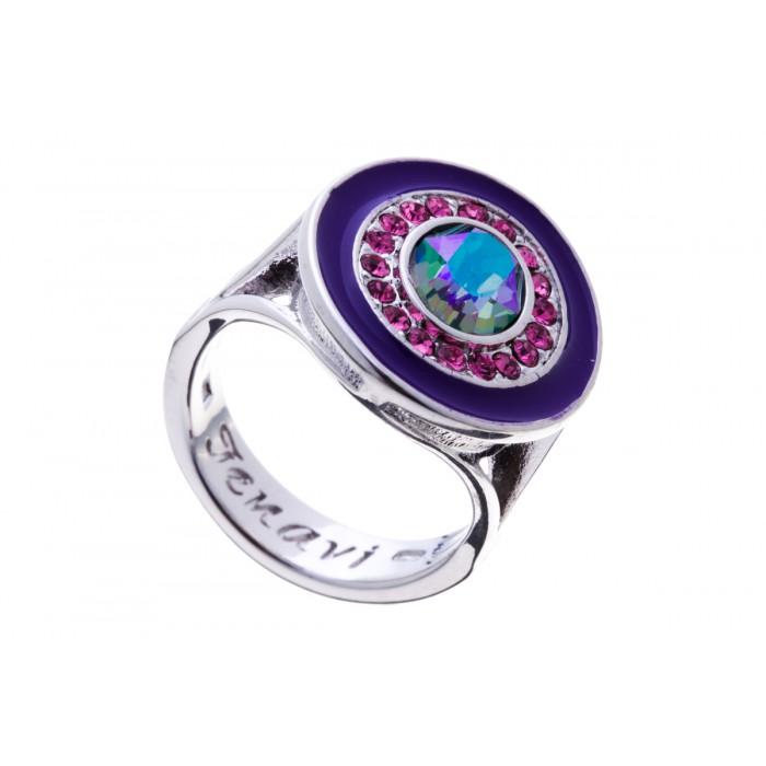 Кольцо Jenavi Color 18, цвет: серебряный, фиолетовый, розовый. f379f070. Размер 16f379f070Стильное кольцо Jenavi Color 18 выполнено из гипоаллергенного ювелирного сплава с родированием и серебрением и оформлено кристаллами Swarovski. Стильное кольцо придаст вашему образу изюминку, подчеркнет индивидуальность.