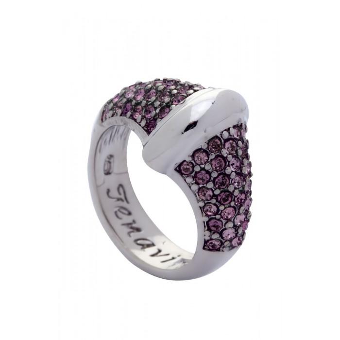 Кольцо Jenavi Фрона, цвет: серебряный, розовый. j955f010. Размер 19j955f010Стильное кольцо Jenavi Фрона изготовлено из ювелирного сплава с антиаллергическим гальваническим покрытием серебрением с родированием. Кольцо инкрустировано мелкими розовыми кристаллами Swarovski. Изысканный дизайн этого кольца не позволит вам остаться незамеченными.