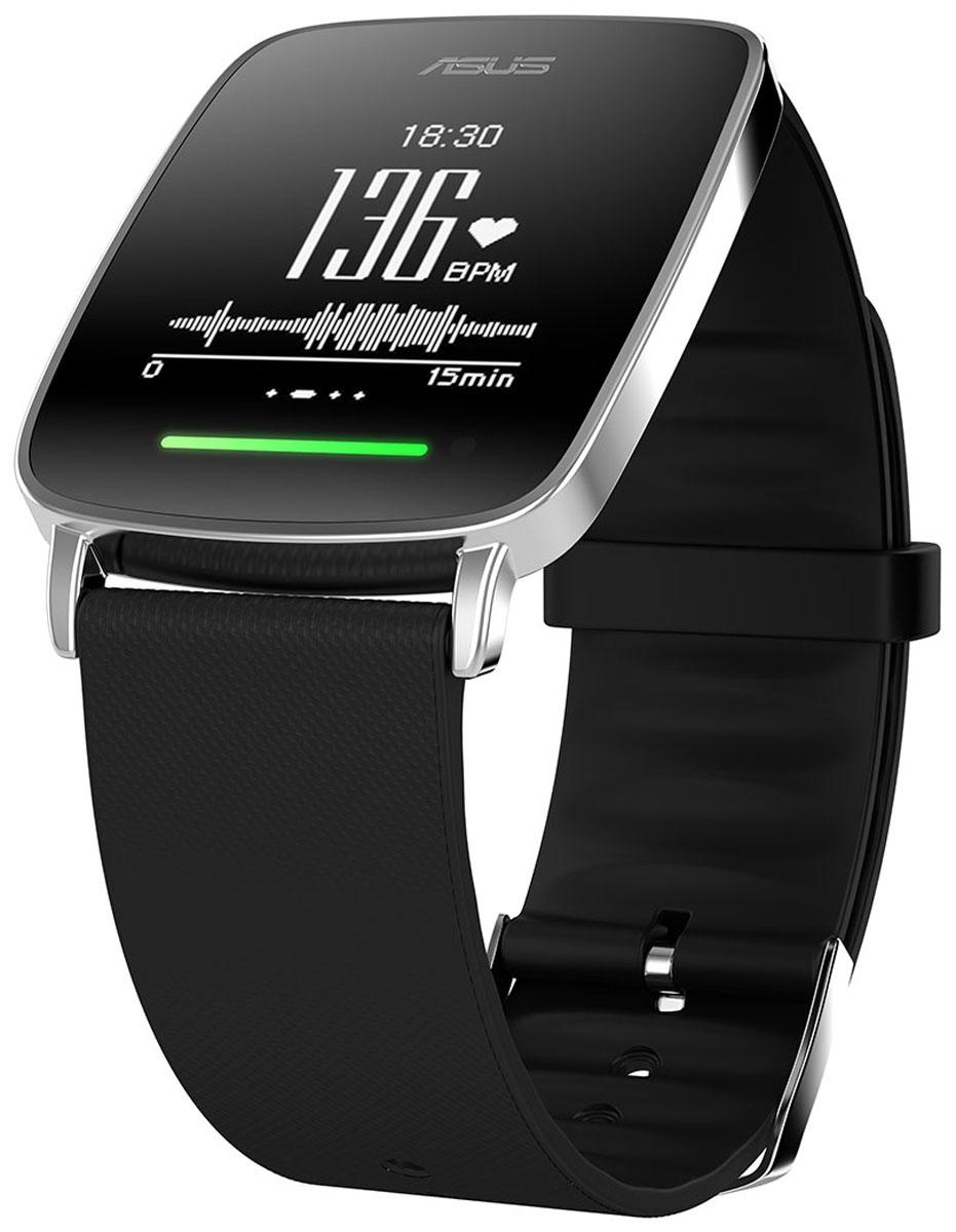 ASUS VivoWatch, Black смарт-часы4712900065534В часах Asus VivoWatch применена технология VivoPulse: встроенный оптический датчик постоянно и с высокой точностью отслеживает частоту пульса пользователя. Эти данные затем используются при подсчете количества потраченных калорий, оценке качества сна и т.д. Отслеживая частоту пульса, часы выполняют мониторинг физической активности и сна пользователя. Регулярные занятия аэробными упражнениями оказывают массу положительных эффектов на здоровье. Чтобы облегчить их выполнение, Asus VivoWatch оснащены светодиодным индикатором, который светится зеленым цветом при аэробной нагрузке. Если же нагрузка становится чересчур высокой, индикатор предупреждает об этом красным цветом. Подсчет числа шагов, сделанных пользователем за день. Вычисление количества калорий, потраченных организмом в течение дня, на основе таких факторов как частота пульса, уровень физической активности, пол, возраст и вес. Встроенный датчик позволяет измерить текущий уровень ультрафиолетового...