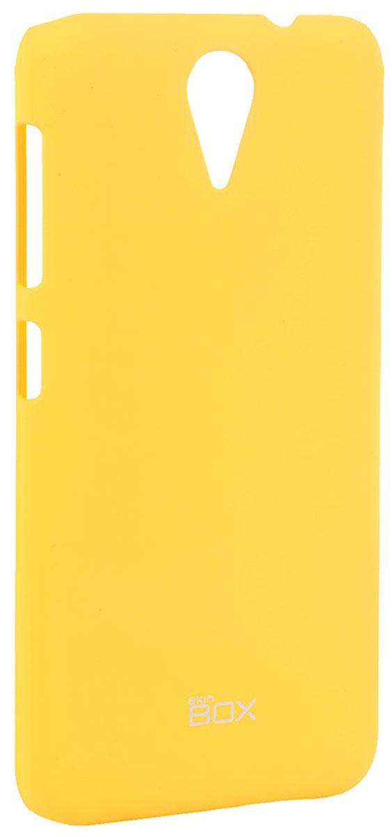 Skinbox 4People чехол для HTC Desire 620, YellowT-S-HD620-002Чехол - накладка Skinbox 4People для HTC Desire 620 бережно и надежно защитит ваш смартфон от пыли, грязи, царапин и других повреждений. Чехол оставляет свободным доступ ко всем разъемам и кнопкам устройства. В комплект также входит защитная пленка на экран.