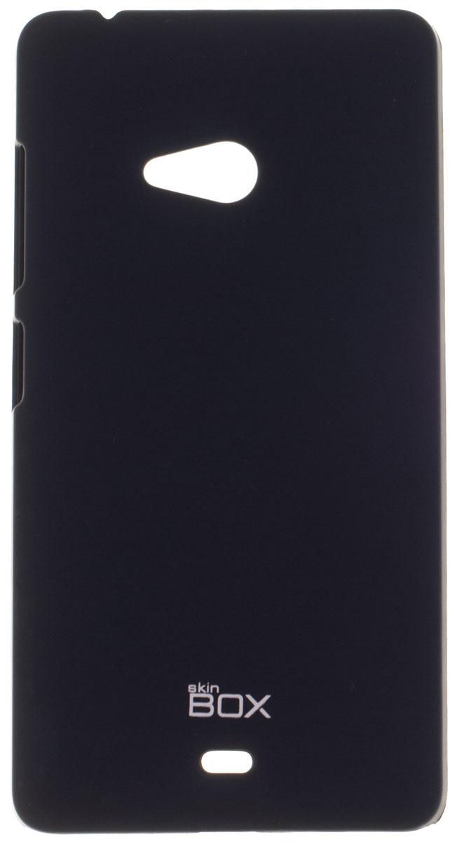 Skinbox 4People чехол для Microsoft Lumia 540, BlackT-S-ML540-002Чехол - накладка Skinbox 4People для Microsoft Lumia 540 бережно и надежно защитит ваш смартфон от пыли, грязи, царапин и других повреждений. Чехол оставляет свободным доступ ко всем разъемам и кнопкам устройства. В комплект также входит защитная пленка на экран.