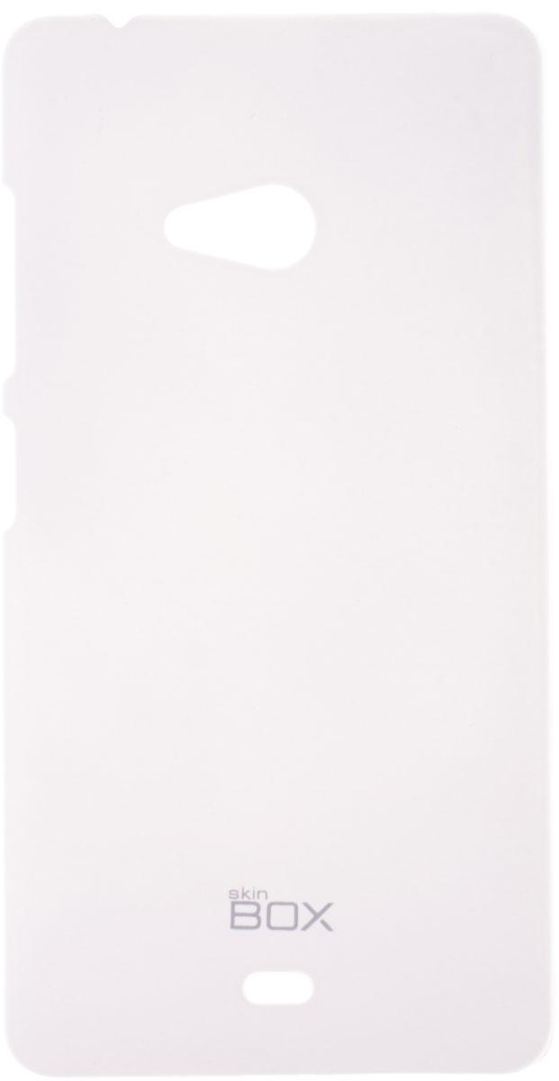 Skinbox 4People чехол для Microsoft Lumia 540, WhiteT-S-ML540-002Чехол - накладка Skinbox 4People для Microsoft Lumia 540 бережно и надежно защитит ваш смартфон от пыли, грязи, царапин и других повреждений. Чехол оставляет свободным доступ ко всем разъемам и кнопкам устройства. В комплект также входит защитная пленка на экран.