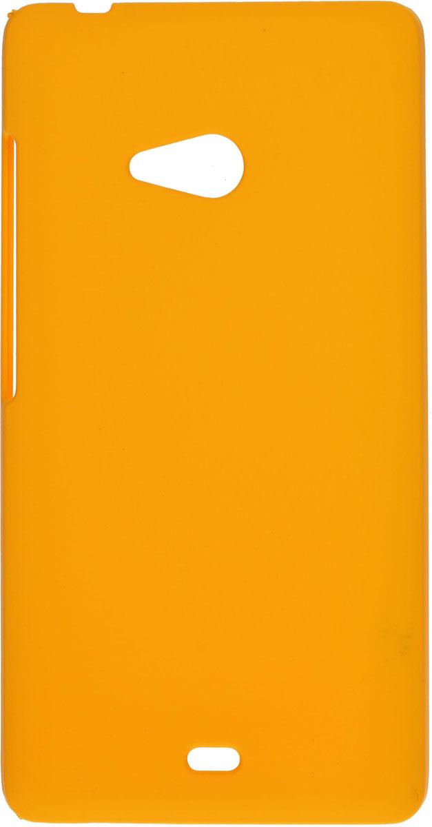 Skinbox 4People чехол для Microsoft Lumia 540, YellowT-S-ML540-002Чехол - накладка Skinbox 4People для Microsoft Lumia 540 бережно и надежно защитит ваш смартфон от пыли, грязи, царапин и других повреждений. Чехол оставляет свободным доступ ко всем разъемам и кнопкам устройства. В комплект также входит защитная пленка на экран.