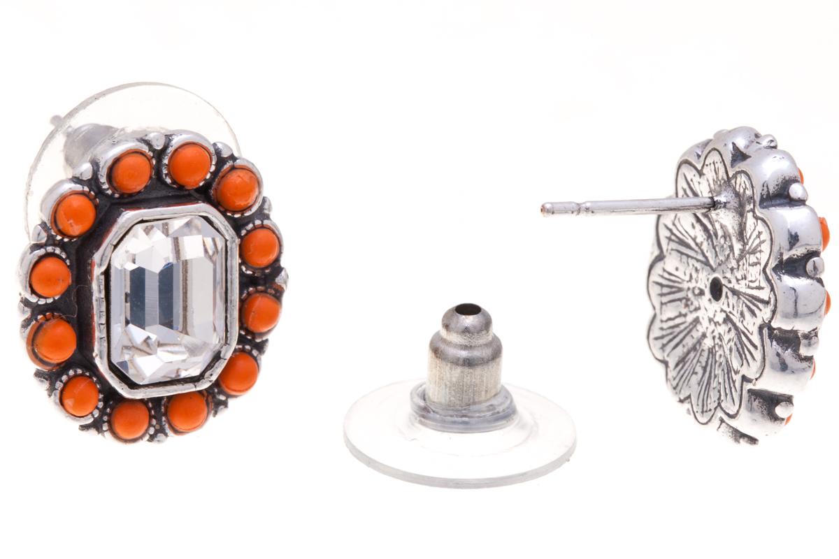 Серьги Jenavi Марбелья, цвет: серебряный, оранжевый, белый. f5183870f5183870Элегантные серьги Jenavi Марбелья выполнены из ювелирного сплава с антиаллергическим гальваническим серебряным покрытием. Изделие украшено сверкающим прозрачным кристаллом Swarovski. Серьги имеют удобный и практичный замок-гвоздик, который эстетично включается в дизайн украшения. Изящные серьги станут модным аксессуаром как для повседневного, так и для вечернего наряда, они подчеркнет вашу индивидуальность и неповторимый стиль, и помогут создать незабываемый уникальный образ.