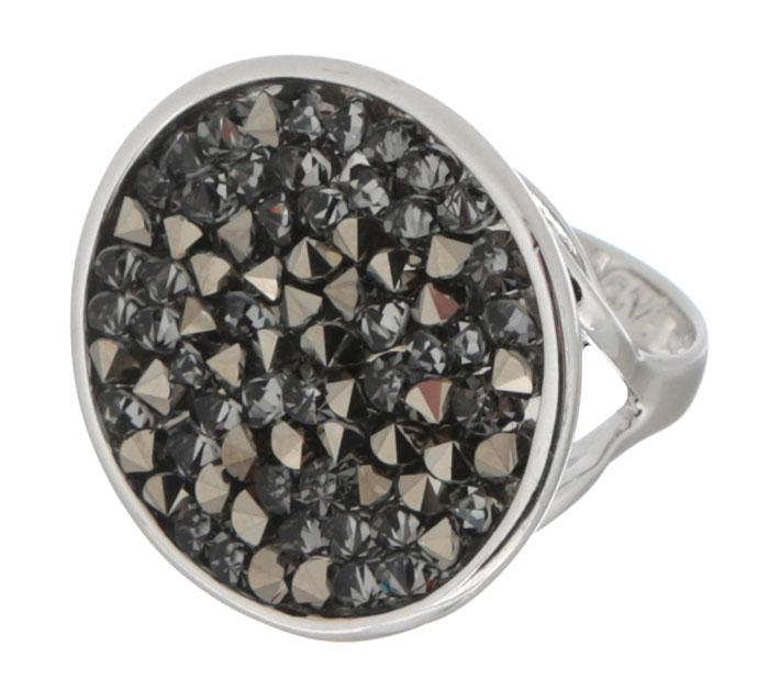 Кольцо Jenavi Карпо, цвет: серебряный, серый. j337f066. Размер 16j337f066Яркое кольцо Jenavi Карпо выполнено из ювелирного сплава с антиаллергическим гальваническим покрытием серебром с родированием. Кристаллы Swarovski, наполняющие декоративную основу украшения, ассоциируются с великими нераскрытыми тайнами и вечной божественной силой. К тому же, изделие обладает превосходной практичностью и сочетаемостью, несмотря на свою яркую центральную часть. Изысканное решение и оригинальный дизайн этого кольца не позволят вам остаться незамеченными!