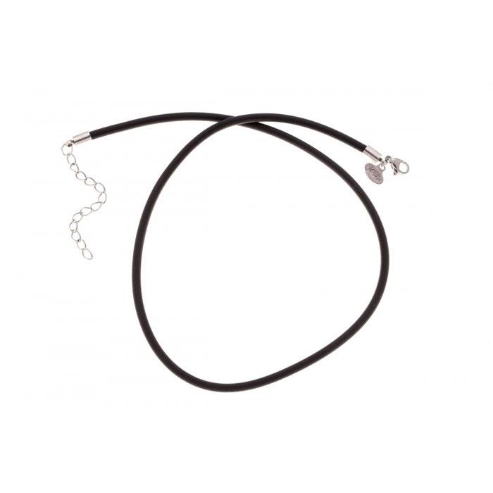 Колье-шнур Jenavi, цвет: черный, серебро. k3083590k3083590Оригинальное колье-шнур Jenavi изготовлено из плотного эластичного материала и ювелирного гипоаллергенного сплава с покрытием черненым серебром. Застёгивается шнур на карабин и оснащен цепочкой для регулирования размера. Такое колье-шнур позволит вам воплотить любые фантазии, добавляя к нему любые подвески, и создать собственный, неповторимый образ. Для того, чтобы украшение сохранило первозданный блеск, рекомендуется избегать взаимодействия с водой и химическими средствами.
