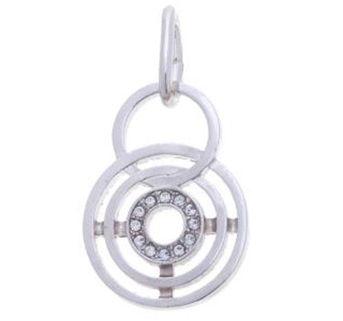 Подвеска Jenavi Сатурнио, цвет: серебряный, белый. f498f300f498f300Оригинальная подвеска Jenavi Сатурнио выполнена из гипоаллергенного ювелирного сплава, оформлена покрытием из серебра и родия. Изделие дополнено кристаллами Swarovski. Изделие имеет соединительное кольцо, которое позволит подобрать шнур или цепочку любого диаметра. Подвеска Jenavi Сатурнио поможет дополнить любой образ и привнести в него завершающий яркий штрих.