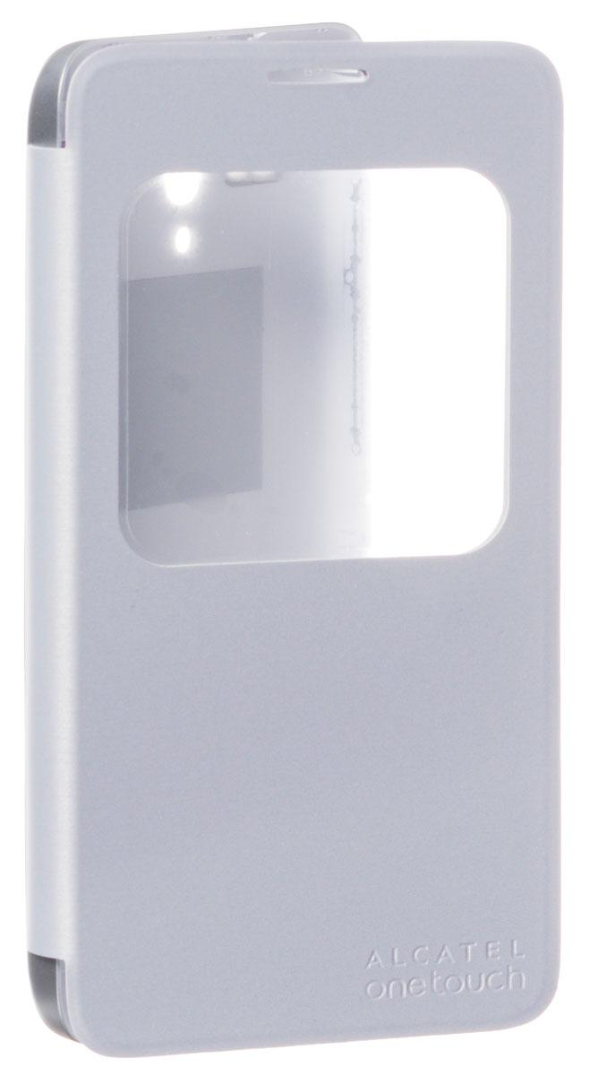 Alcatel S-View чехол для OT-5054D Pop 3, SilverG5054-3SALFCG-RU2Alcatel Alcatel S-View - стильный и надежный полиуретановый чехол для Alcatel OT-5054D Pop 3. Он обеспечивает полную защиту смартфона от сколов и царапин, а также свободный доступ по всем кнопкам и портам.