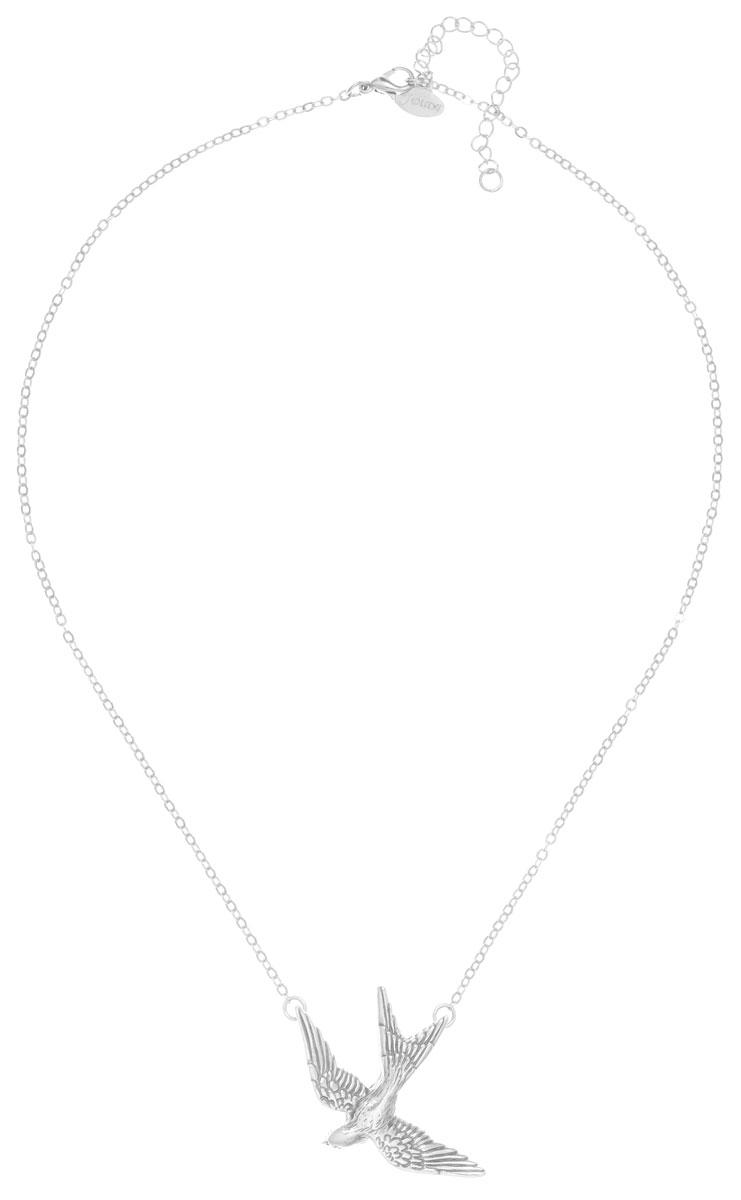 Колье Jenavi Тея, цвет: серебряный. f5383590f5383590Колье Jenavi Тея выполнено в виде цепочки с классическим плетением из гипоаллергенного ювелирного сплава и дополнено подвеской в форме птицы. Колье застегивается на замок-карабин, длина изделия регулируется за счет дополнительных звеньев. Колье Jenavi Тея поможет дополнить любой образ и привнести в него завершающий штрих.