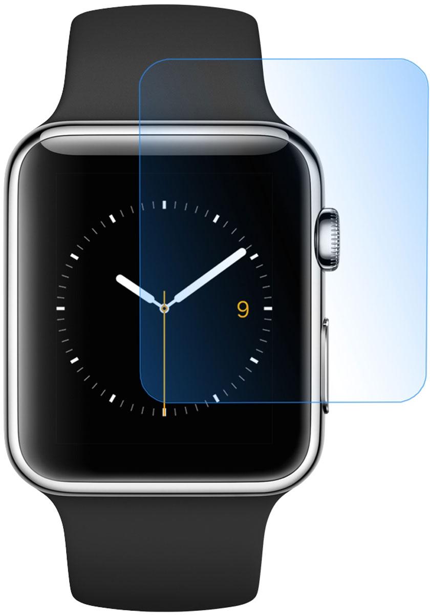 Skinbox защитное стекло для Apple Watch 42mm, глянцевоеSP-152Защитное стекло Skinbox для Apple Watch 42mm предназначено для защиты поверхности экрана от царапин, потертостей, отпечатков пальцев и прочих следов механического воздействия. Оно имеет окаймляющую загнутую мембрану последнего поколения, а также олеофобное покрытие. Изделие изготовлено из закаленного стекла высшей категории, с высокой чувствительностью и сцеплением с экраном.