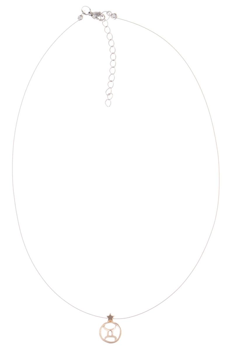 Кулон Jenavi Джеминей, цвет: золотой. k361p990k361p990Кулон Jenavi Джеминей выполнен в виде символа знака зодиака Близнецы из гипоаллергенного ювелирного сплава с позолотой. Кулон дополнен металлизированной нитью, которая фиксируется на замок-карабин. Длина изделия регулируется за счет дополнительных звеньев. Кулон Jenavi Джеминей поможет дополнить любой образ и привнести в него завершающий штрих.