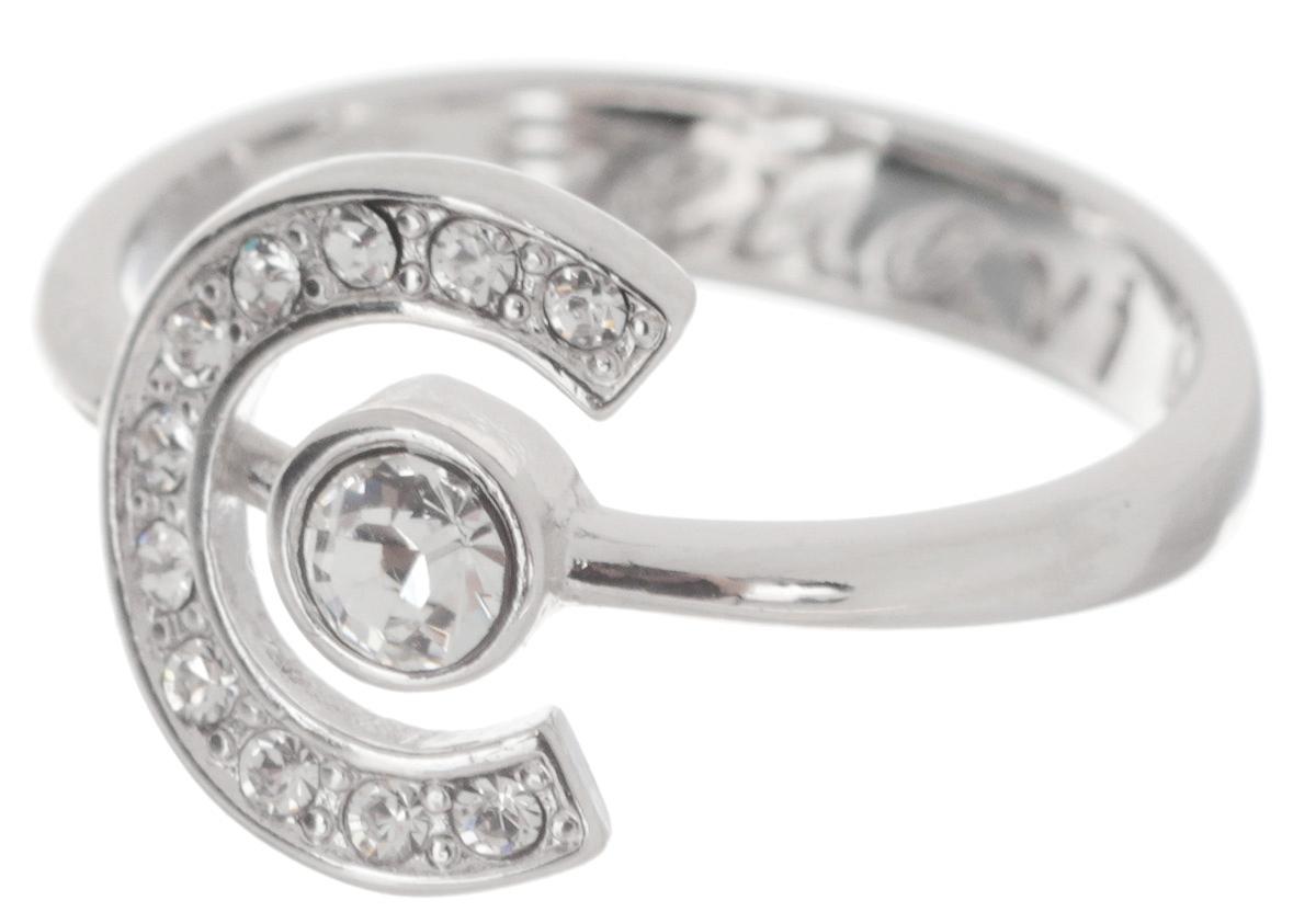 Кольцо Jenavi Эстелио, цвет: серебряный, белый. f497f000. Размер 18f497f000Кольцо современного дизайна Jenavi Эстелио выполнено из ювелирного сплава с антиаллергическим гальваническим покрытием с серебрением и родированием. В дизайне посеребренного кольца сочетаются простота и изысканность. Его центральная часть выполнена в виде полуокружности, внутри располагается страз Swarovski. Инкрустация небольшими искрящимися кристаллами по периметру дополняет эффектный образ. Стильное кольцо придаст вашему образу изюминку и подчеркнет индивидуальность.