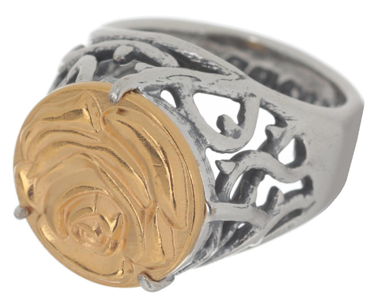 Кольцо Jenavi Форсети, цвет: серебряный, золотой. r693x090. Размер 17r693x090Эффектное кольцо-печатка Jenavi Форсети выполнено из ювелирного сплава с антиаллергическим гальваническим смешанным покрытием. Изделие декорировано ажурным литьем и тисненой розой на поверхности декоративного элемента. Стильное кольцо придаст вашему образу изюминку и подчеркнет индивидуальность.