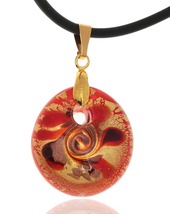 Кулон на шнурке Райские острова. Муранское стекло оранжевого цвета, шнурок из каучука, ручная работа. Murano, Италия (Венеция)КК5_Кулон на шнурке Райские острова. Муранское стекло оранжевого цвета, шнурок из каучука, ручная работа. Murano, Италия (Венеция). Размер: Кулон - 3,5 х 3 см. Шнурок - полная длина 45 см. Каждое изделие из муранского стекла уникально и может незначительно отличаться от того, что вы видите на фотографии.