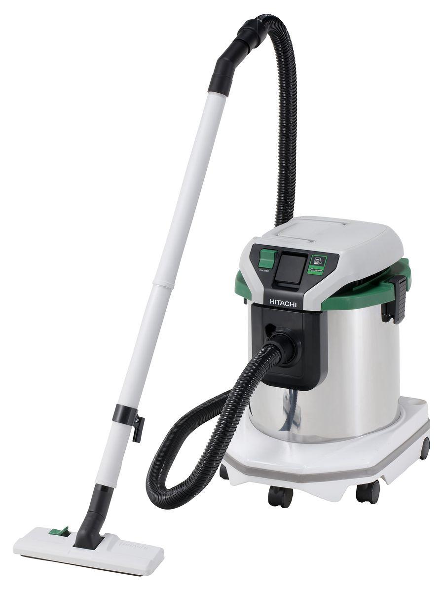 Промышленный пылесос Hitachi RP250YE, цвет: серебристый, зеленый