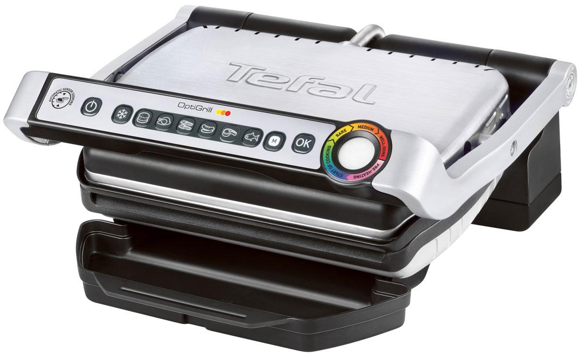 Tefal GC702D34 электрогрильGC702DTefal GC702D34 - первый в мире гриль, который измеряет толщину куска мяса и определяет автоматически желаемый уровень прожарки. Уникальная запатентованная технология: автоматический сенсор регулирует температуру в зависимости от величины и толщины куска мяса, индикатор степени прожарки помогает визуализации процесса приготовления. 6 автоматических программ с адаптированной температурой и циклами жарки предназначены для приготовления бургеров, птицы, бекона (панини), сосисок, мяса или рыбы. Датчик измерения толщины и регулировки температуры 6 программ (гамбургер, птица, бекон / панини, сосиски, мясо, рыба) + ручные программы Простота обслуживания Пластины и поддон легко мыть в посудомоечной машине Угол наклона панели - 7° (для стекания жира и легкой очистки) Поверхность гриля – 600 кв. см