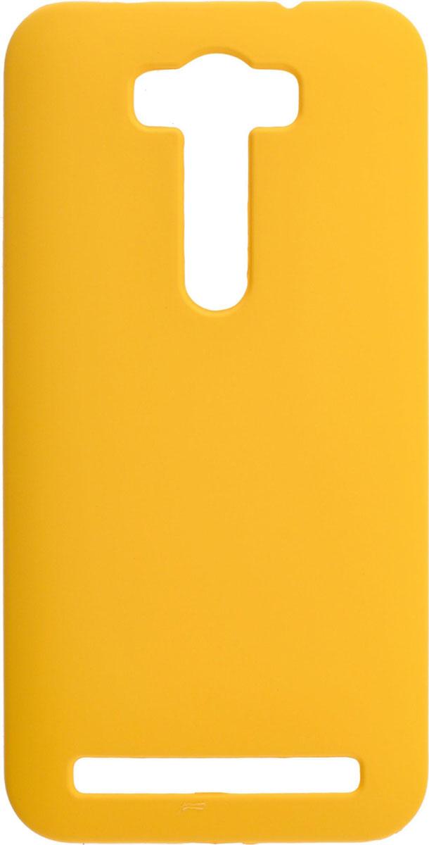 Skinbox 4People чехол для Asus Zenfone Laser 2 ZE500KL/ZE500KG, YellowT-S-AZL2-002Чехол-накладка Skinbox 4People для Asus Zenfone Laser 2 ZE500KL/ZE500KG бережно и надежно защитит ваш смартфон от пыли, грязи, царапин и других повреждений. Выполнен из высококачественного поликарбоната, плотно прилегает и не скользит в руках. Чехол оставляет свободным доступ ко всем разъемам и кнопкам устройства.