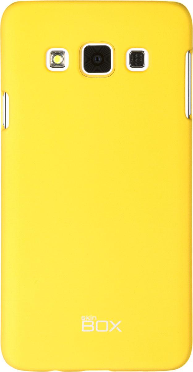 Skinbox 4People чехол для Samsung Galaxy A3, YellowT-S-SGA300-002Чехол-накладка Skinbox 4People для Samsung Galaxy A3 бережно и надежно защитит ваш смартфон от пыли, грязи, царапин и других повреждений. Выполнен из высококачественного поликарбоната, плотно прилегает и не скользит в руках. Чехол оставляет свободным доступ ко всем разъемам и кнопкам устройства.