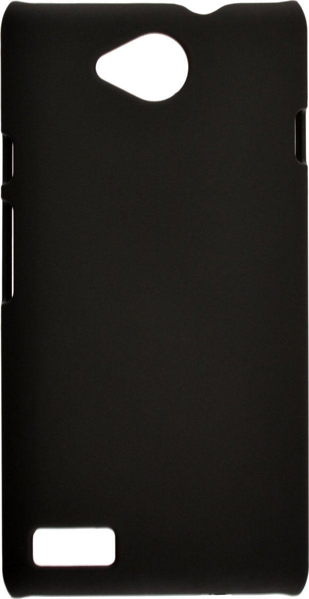 Skinbox 4People чехол для ZTE Blade Q Lux, BlackT-S-ZBQl-002Чехол-накладка Skinbox 4People для ZTE Blade Q Lux бережно и надежно защитит ваш смартфон от пыли, грязи, царапин и других повреждений. Выполнен из высококачественного поликарбоната, плотно прилегает и не скользит в руках. Чехол оставляет свободным доступ ко всем разъемам и кнопкам устройства.