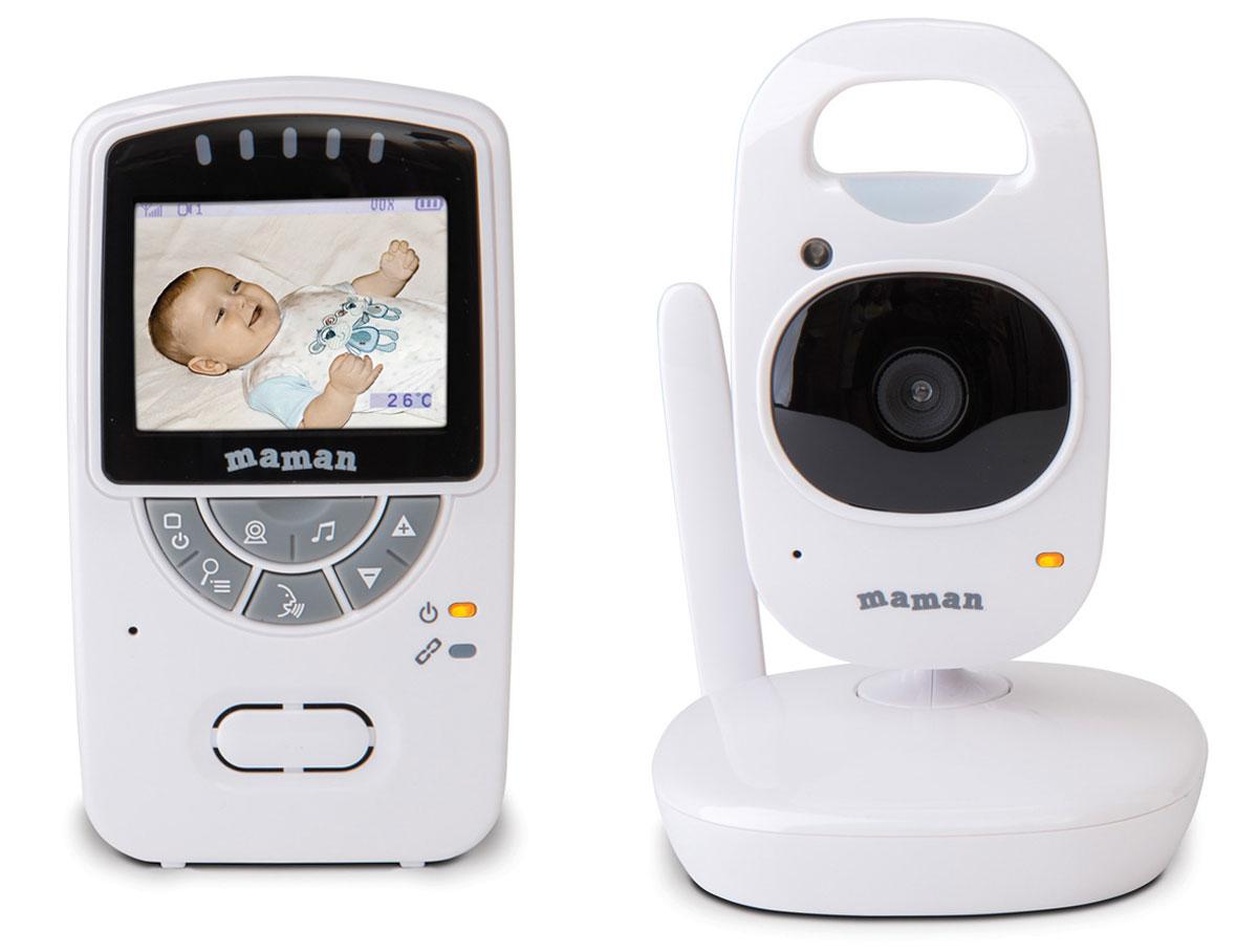 Видеоняня Maman VM5401VM5401Многофункциональная беспроводная система видеонаблюдения Maman VM5401 использует современную технологию передачи данных, которая позволяет избежать помех. Видеоняня имеет цветной экран 2,4 и дальность приема до 300 метров. 2-кратное приближение изображения Инфракрасные диоды: 6 шт Рабочая частота: 2,4 Ghz