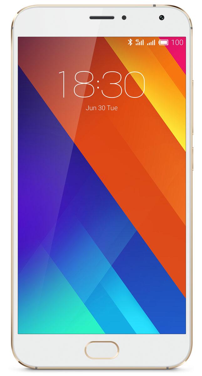 Meizu MX5 16GB, Gold WhiteM575H-16-GOWHДвухсимочный смартфон Meizu MX5 на базе Android 5.1 c фирменной 64-битной оболочкой Flyme 4.5 обладает 5.5 сенсорным Super AMOLED экраном с разрешением Full HD 1980х1020 точек и прочным стеклом Corning Gorilla Glass 3. За производительность смартфона отвечает центральный 8-ядерный процессор Helio X10 Turbo и графический процессор PowerVR G6200. Смартфон оснащен 20.7 Мпикс камерой с 6-элементной линзой, мгновенной лазерной фокусировкой, панорамным объективом и двухцветовой вспышкой. Mediatek Helio X10 Turbo является 64-битным 8-ядерным процессором, изготовленным по 28нм-процессу HPM (High Performance Mobile). Он работает со стабильной частотой и эффективно минимизирует утечку энергии. Графический процессор PowerVR G6200 также имеет высочайшую производительность и помогает поддерживать стабильную частоту кадров даже после продолжительной игры. В сочетании с передовой 64- разрядной Flyme OS 4.5, Meizu MX5 предлагает наилучшую реальную производительность и...