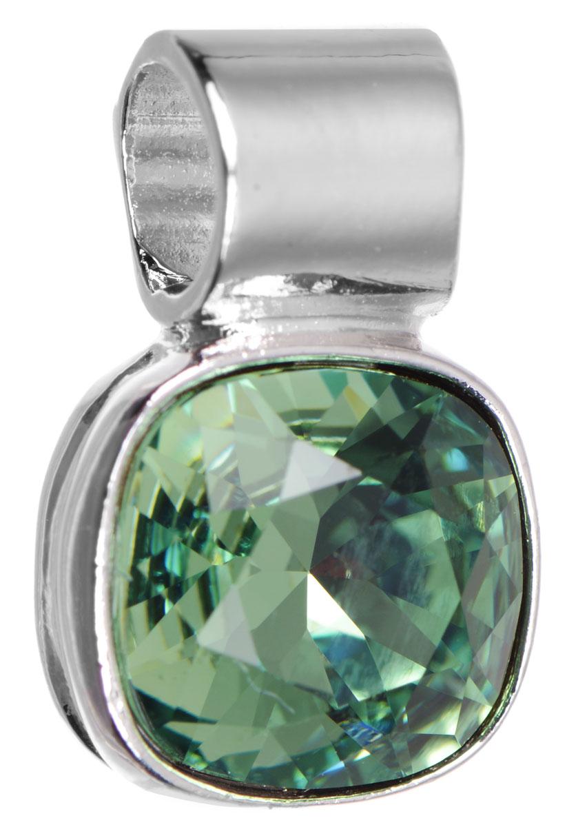 Подвеска Jenavi Дарила, цвет: серебряный, зеленый. k271f334k271f334Подвеска Jenavi Дарила выполнена из гипоаллергенного ювелирного сплава, оформлена покрытием из серебра и родия. Подвеска дополнена граненым кристаллом Swarovski. Изделие имеет отверстие, которое позволит использовать шнур или цепочку любого диаметра. Подвеска Jenavi Дарила поможет дополнить любой образ и привнести в него завершающий яркий штрих.