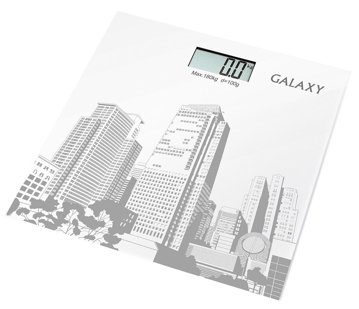 Galaxy GL4803 весы напольные4630003362605Электронные весы Galaxy GL4803 разработаны специально для тех, кто следит за своим здоровьем и физической формой. Стильный дизайн, ультратонкий корпус, большой дисплей! Сверхточная сенсорная система датчиков Платформа из высокопрочного стекла Жидкокристаллический дисплей с подсветкой Индикация перегрузки Индикация низкого уровня заряда элементов питания Прорезиненные ножки
