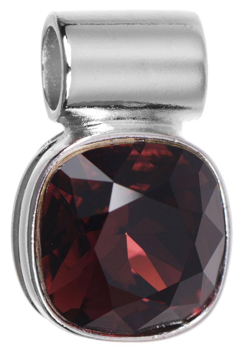 Подвеска Jenavi Неопра, цвет: серебряный, бордовый. k282f316k282f316Подвеска Jenavi Неопра выполнена из гипоаллергенного ювелирного сплава, оформлена покрытием из серебра и родия. Подвеска дополнена граненым кристаллом Swarovski. Изделие имеет отверстие, которое позволит использовать шнур или цепочку любого диаметра. Подвеска Jenavi Неопра поможет дополнить любой образ и привнести в него завершающий яркий штрих.