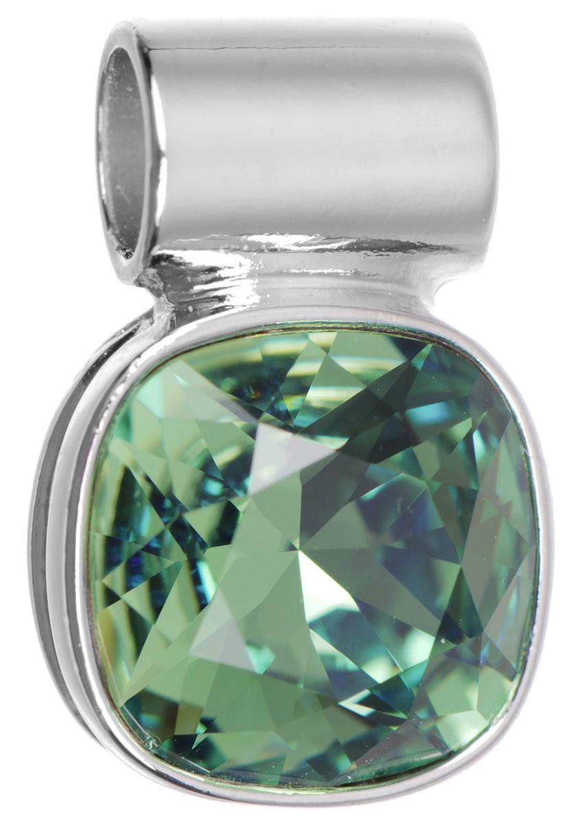 Подвеска Jenavi Неопра, цвет: серебряный, зеленый. k282f334k282f334Подвеска Jenavi Неопра выполнена из гипоаллергенного ювелирного сплава, оформлена покрытием из серебра и родия. Подвеска дополнена граненым кристаллом Swarovski. Изделие имеет отверстие, которое позволит использовать шнур или цепочку любого диаметра. Подвеска Jenavi Неопра поможет дополнить любой образ и привнести в него завершающий яркий штрих.