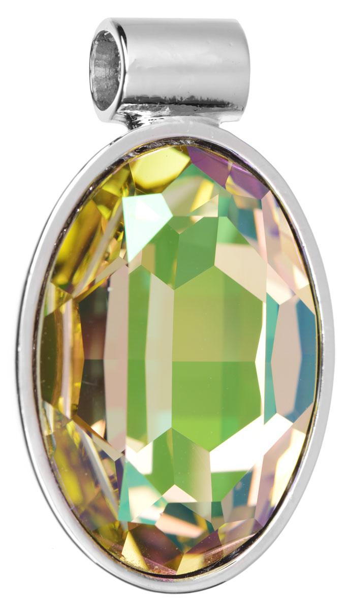 Подвеска Jenavi Рютур, цвет: серебряный, желтый. k285f323k285f323Подвеска Jenavi Рютур выполнена из гипоаллергенного ювелирного сплава, оформлена покрытием из серебра и родия. Подвеска овальной формы дополнена граненым кристаллом Swarovski. Изделие имеет отверстие, которое позволит использовать шнур или цепочку любого диаметра. Подвеска Jenavi Рютур поможет дополнить любой образ и привнести в него завершающий яркий штрих.