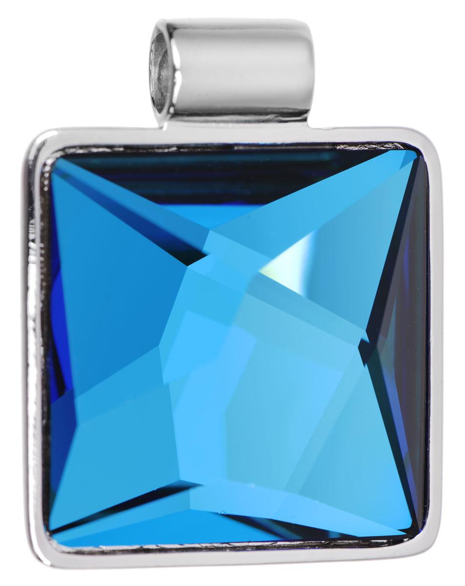 Подвеска Jenavi Хич, цвет: серебряный, голубой. k255f340k255f340Подвеска Jenavi Хич выполнена из гипоаллергенного ювелирного сплава, оформлена покрытием из серебра и родия. Подвеска квадратной формы дополнена граненым кристаллом Swarovski. Изделие имеет отверстие, которое позволит использовать шнур или цепочку любого диаметра. Подвеска Jenavi Хич поможет дополнить любой образ и привнести в него завершающий яркий штрих.