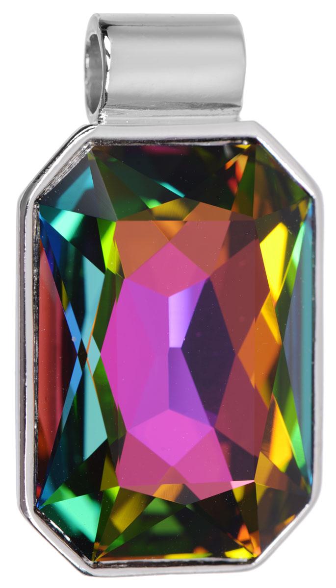 Подвеска Jenavi Арлата, цвет: серебряный, мультиколор. k287f370k287f370Подвеска Jenavi Арлата выполнена из гипоаллергенного ювелирного сплава, оформлена покрытием из серебра и родия. Подвеска восьмиугольной формы дополнена граненым кристаллом Swarovski. Изделие имеет отверстие, которое позволит использовать шнур или цепочку любого диаметра. Подвеска Jenavi Арлата поможет дополнить любой образ и привнести в него завершающий яркий штрих.