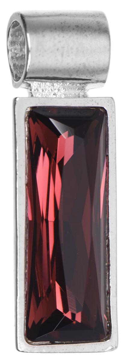Подвеска Jenavi Зонеко, цвет: серебряный, бордовый. k295f316k295f316Оригинальная подвеска Jenavi Зонеко выполнена из гипоаллергенного ювелирного сплава, оформлена покрытием из серебра и родия. Подвеска прямоугольной формы дополнена граненым кристаллом Swarovski. Изделие имеет отверстие, которое позволит использовать шнур или цепочку любого диаметра. Подвеска Jenavi Зонеко поможет дополнить любой образ и привнести в него завершающий яркий штрих.