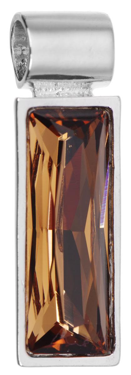 Подвеска Jenavi Зонеко, цвет: серебряный, коричневый. k295f325k295f325Оригинальная подвеска Jenavi Зонеко выполнена из гипоаллергенного ювелирного сплава, оформлена покрытием из серебра и родия. Подвеска прямоугольной формы дополнена граненым кристаллом Swarovski. Изделие имеет отверстие, которое позволит использовать шнур или цепочку любого диаметра. Подвеска Jenavi Зонеко поможет дополнить любой образ и привнести в него завершающий яркий штрих.