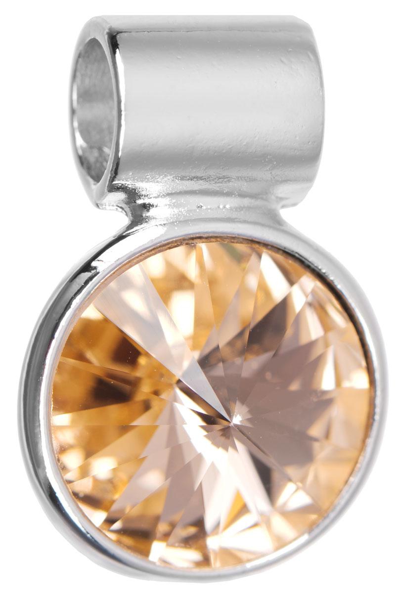 Подвеска Jenavi Цивасар, цвет: серебряный, оранжевый. k288f312k288f312Подвеска Jenavi Цивасар выполнена из гипоаллергенного ювелирного сплава, оформлена покрытием из серебра и родия. Подвеска круглой формы дополнена граненым кристаллом Swarovski. Изделие имеет отверстие, которое позволит использовать шнур или цепочку любого диаметра. Подвеска Jenavi Цивасар поможет дополнить любой образ и привнести в него завершающий яркий штрих.