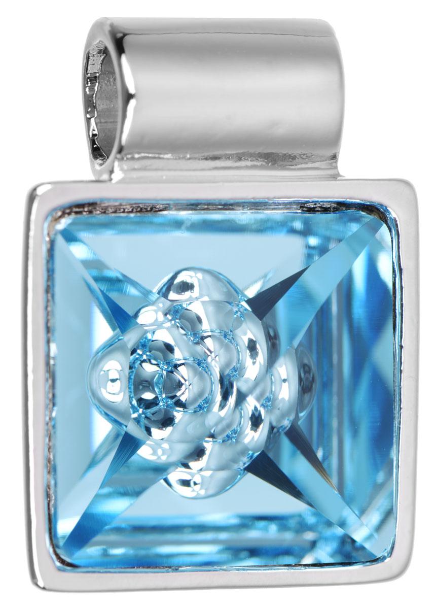 Подвеска Jenavi Досиера, цвет: серебряный, голубой. k269f340k269f340Подвеска Jenavi Досиера выполнена из гипоаллергенного ювелирного сплава, оформлена покрытием из серебра и родия. Подвеска квадратной формы дополнена граненым кристаллом Swarovski, внутри которого расположен оригинальный декоративный элемент. Изделие имеет отверстие, которое позволит использовать шнур или цепочку любого диаметра. Подвеска Jenavi Досиера поможет дополнить любой образ и привнести в него завершающий яркий штрих.