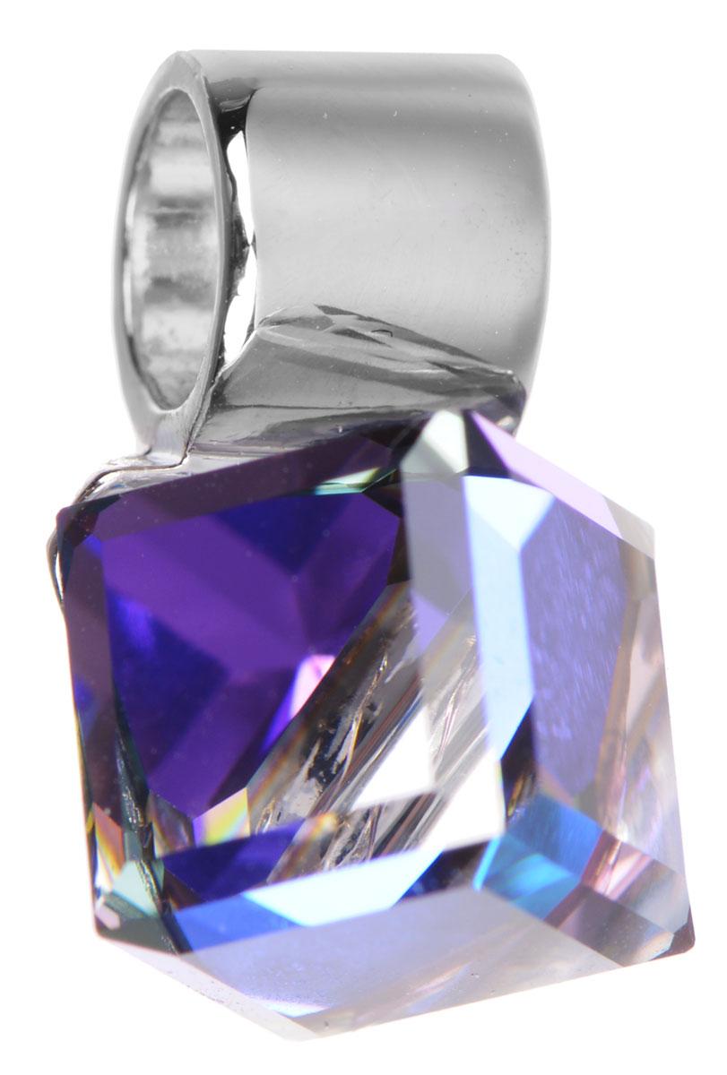Подвеска Jenavi Ребер, цвет: серебряный, фиолетовый. k257f370k257f370Оригинальная подвеска Jenavi Ребер выполнена из гипоаллергенного ювелирного сплава, оформлена покрытием из серебра с чернением и родия. Подвеска дополнена кристаллом Swarovski в форме куба. Изделие имеет отверстие, которое позволит подобрать шнур или цепочку любого диаметра. Подвеска Jenavi Ребер поможет дополнить любой образ и привнести в него завершающий яркий штрих.