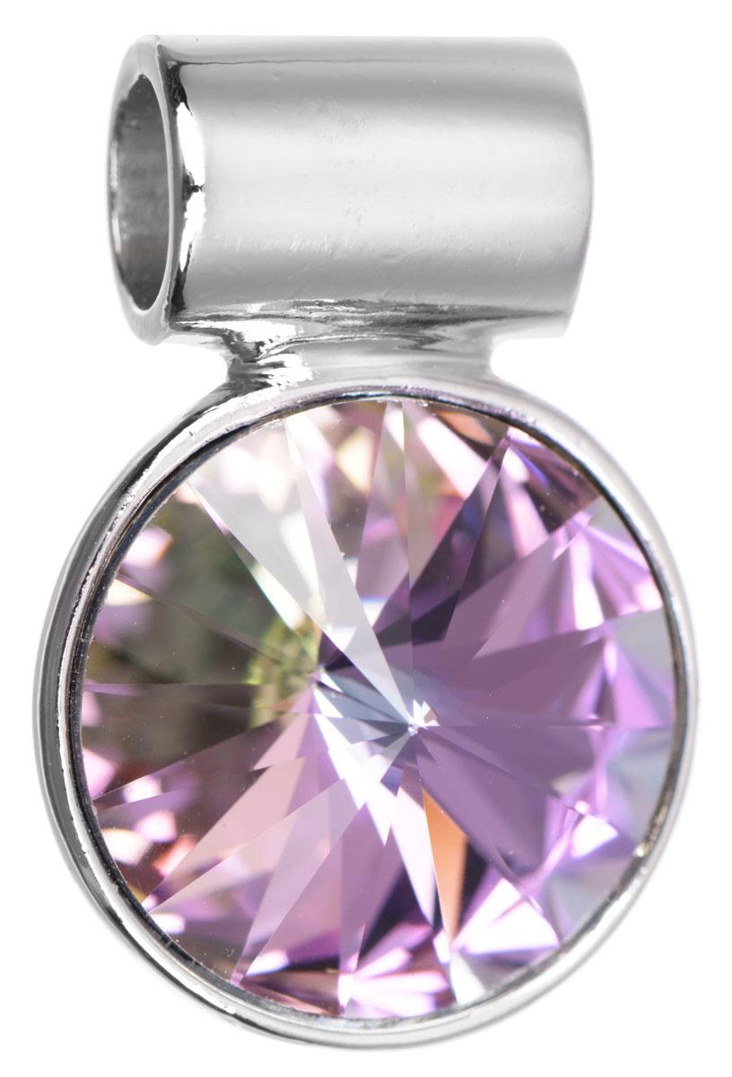 Подвеска Jenavi Кейни, цвет: серебряный, фиолетовый. k265f350k265f350Подвеска Jenavi Кейни выполнена из гипоаллергенного ювелирного сплава, оформлена покрытием из серебра и родия. Подвеска круглой формы дополнена граненым кристаллом Swarovski. Изделие имеет отверстие, которое позволит использовать шнур или цепочку любого диаметра. Подвеска Jenavi Кейни поможет дополнить любой образ и привнести в него завершающий яркий штрих.