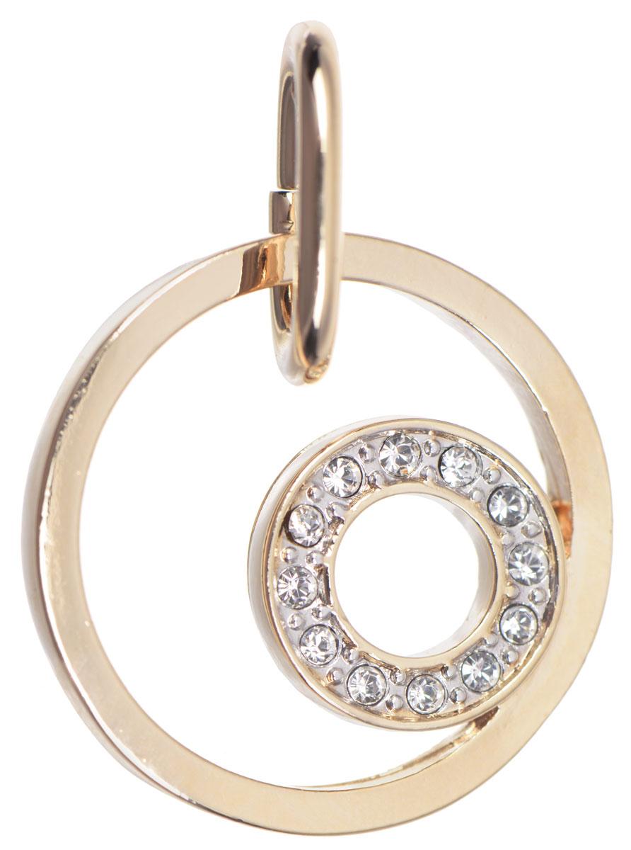Подвеска Jenavi Ниацианта, цвет: золотой, белый. f507q300f507q300Оригинальная подвеска Jenavi Ниацианта выполнена из гипоаллергенного ювелирного сплава, оформлена покрытием из золота и родия. Изделие дополнено кристаллами Swarovski. Подвеска имеет соединительное кольцо, которое позволит подобрать шнур или цепочку любого диаметра. Подвеска Jenavi Ниацианта поможет дополнить любой образ и привнести в него завершающий яркий штрих.