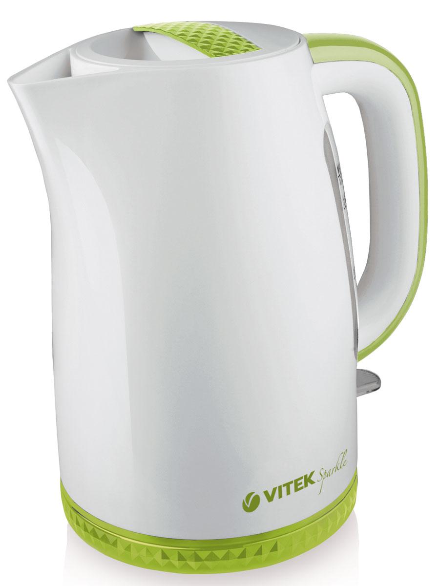 Vitek VT-1175 G электрочайникVT-1175(G)Электрический чайник Vitek VT-1175 G – это удивительное сочетание стиля и функциональности. С корпусом, выполненным из белоснежного высококачественного пищевого пластика с вставками нежного зеленого цвета чайник наполнит атмосферу вашей кухни теплом и уютом. Актуальный объем чайника 1,7 литра вместе с мощностью 2200 Вт позволят в считанные минуты вскипятить воду для любимых горячих напитков. Скрытый нагревательный элемент обеспечит безопасность использования и легкий уход за прибором. Нагревательный элемент покрыт нержавеющей сталью, что также позволит сохранить качество воды. Использование чайника особенно комфортно благодаря индикатору уровня воды – он обеспечивает более точное и простое отмеривание жидкости. Индикатор включения позволит визуально контролировать процесс начала и окончания работы прибора. Безопасность чайнику обеспечат блокировка включения без воды и блокировка крышки. Специальный фильтр успешно защитит ваш чайник от накипи и мелкого сора. Чайник...