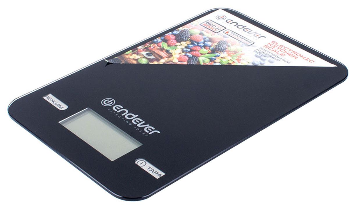 Endever 527-KS весы кухонныеKS-527Кухонные электронные весы Endever 527-KS – незаменимые помощники современной хозяйки. Они помогут точно взвесить любые продукты и ингредиенты. Кроме того, позволят людям, соблюдающим диету, контролировать количество съедаемой пищи и размеры порций. Предназначены для взвешивания продуктов с точностью измерения 1 г. Имеют сенсорное управление. Электронные кухонные весы Endever 527-KS – это высококачественный прибор, в котором применены новейшие технологии в области использования безопасных для здоровья материалов и компонентов.
