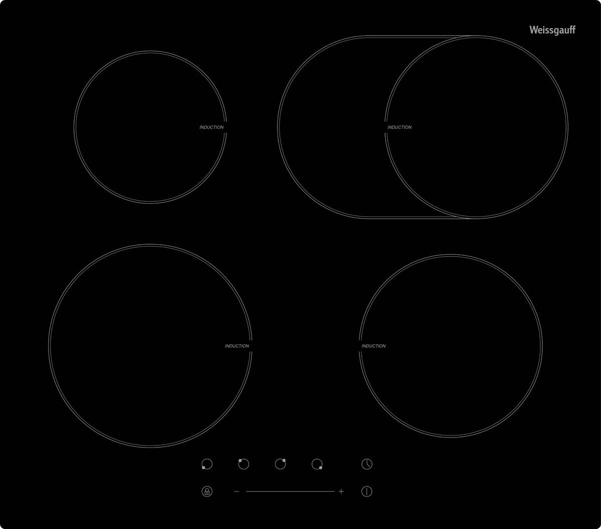Weissgauff IHB 675 B варочная панель277955Самый главный атрибут любой кухни – плита, или, выражаясь более современным языком – варочная панель, экономящая пространство. Weissgauff IHB 675 B оснащена сенсорной панелью управления с таймером до 99 инут и цифровой индикацией степени нагрева. Автоматическое отключение и блокировка конфорок повышают безопасность эксплуатации. Закаленное стекло Vitro Ceramic Glass устойчиво к высоким температурам и царапинам, благодаря чему варочная панель долго сохраняет привлекательный внешний вид.
